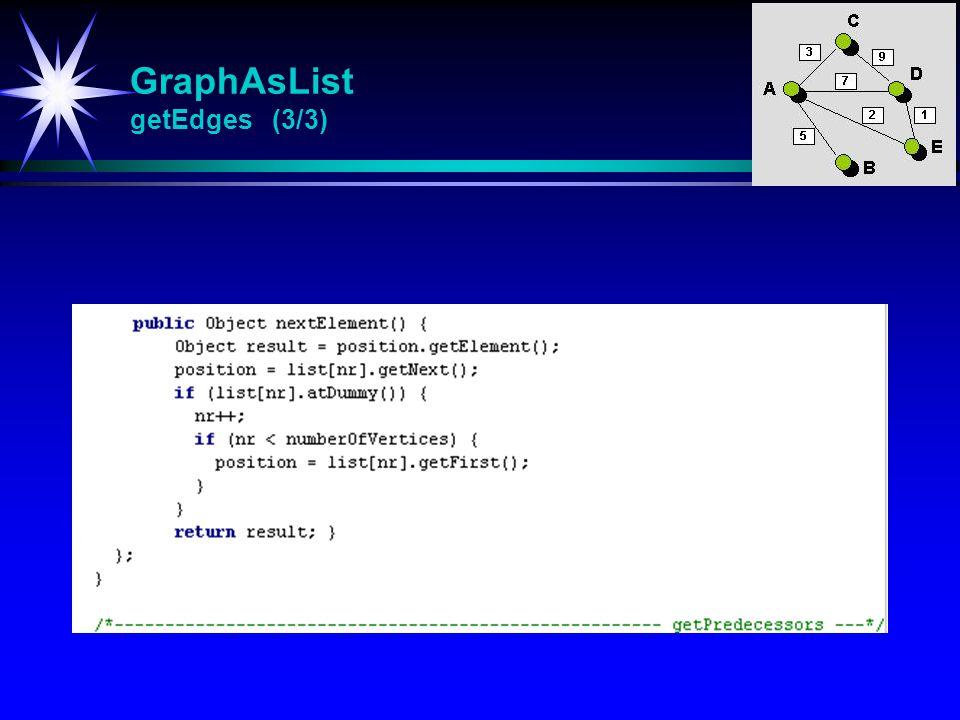 GraphAsList getEdges (3/3)