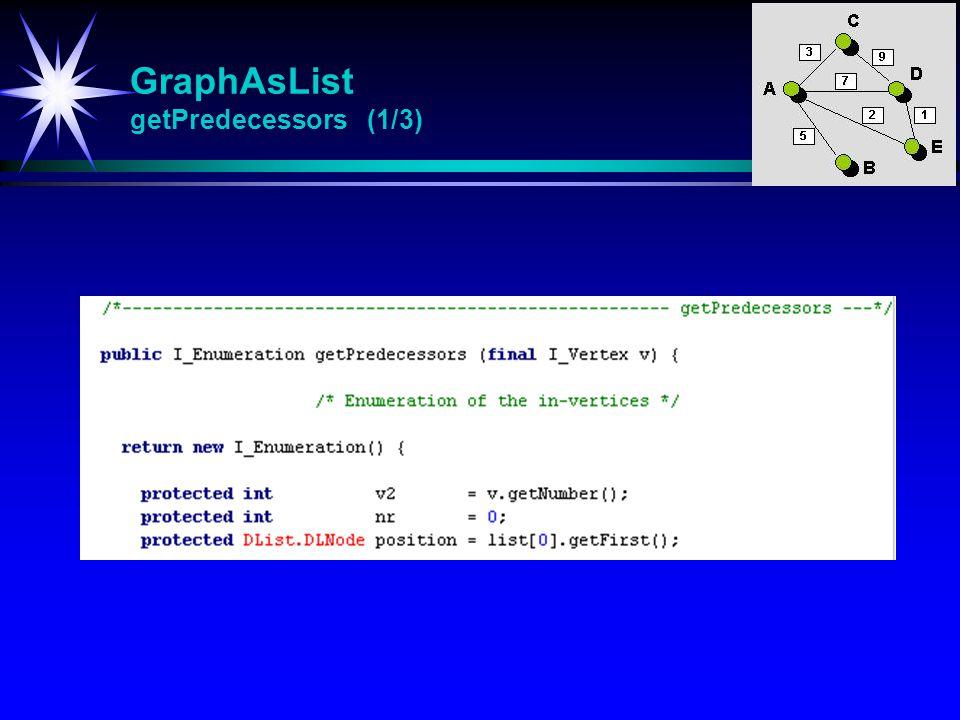 GraphAsList getPredecessors (1/3)