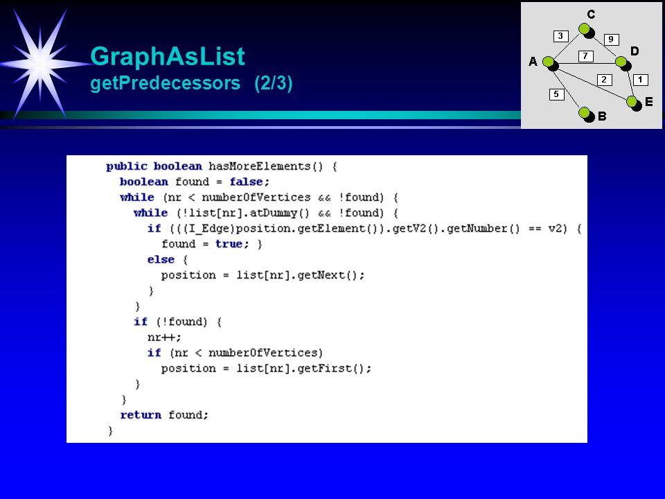 GraphAsList getPredecessors (2/3)