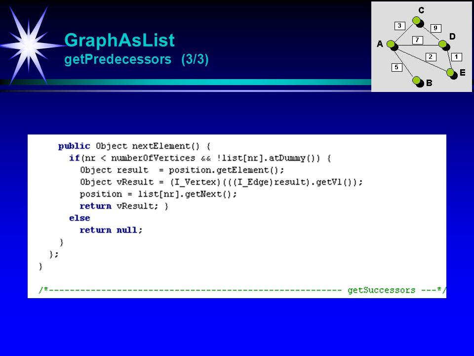 GraphAsList getPredecessors (3/3)