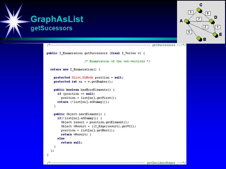 GraphAsList getSucessors