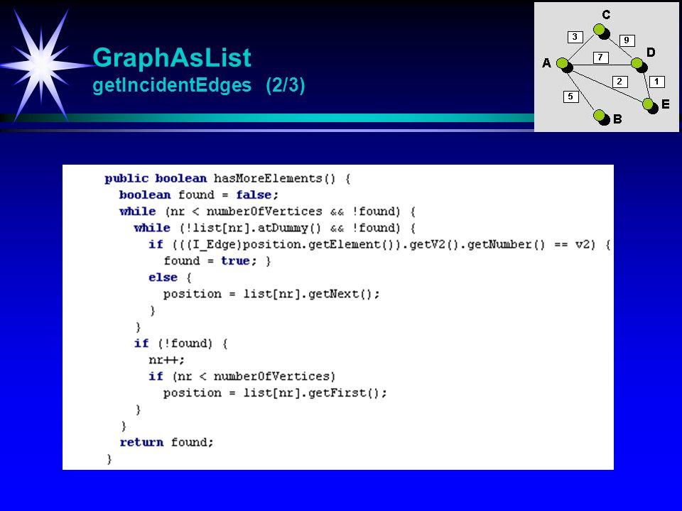 GraphAsList getIncidentEdges (2/3)