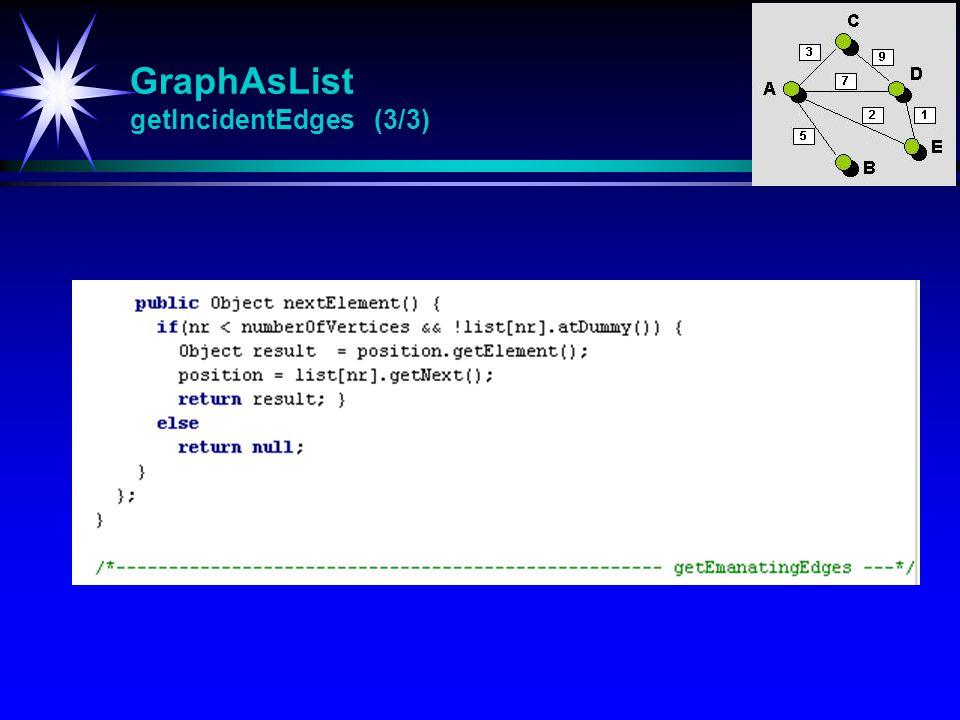 GraphAsList getIncidentEdges (3/3)