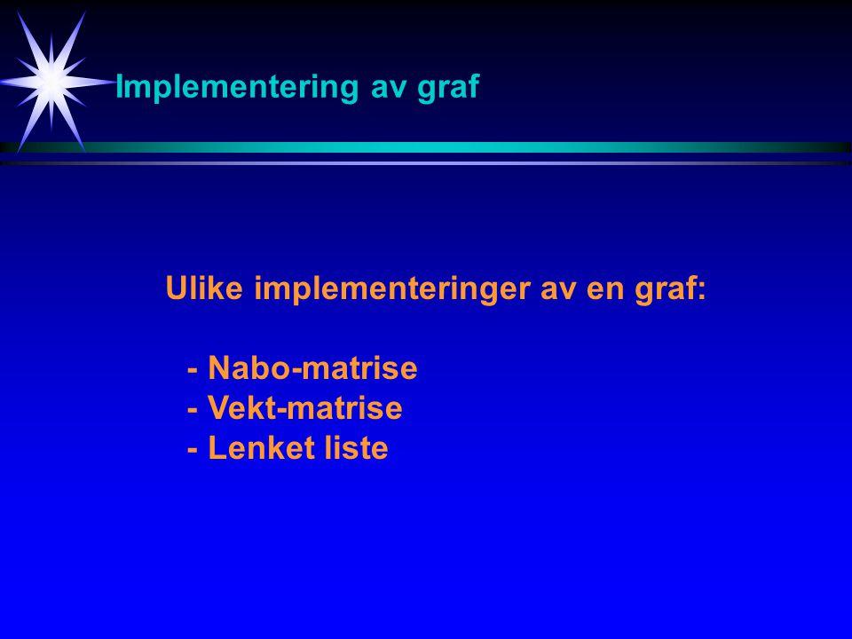Implementering av graf