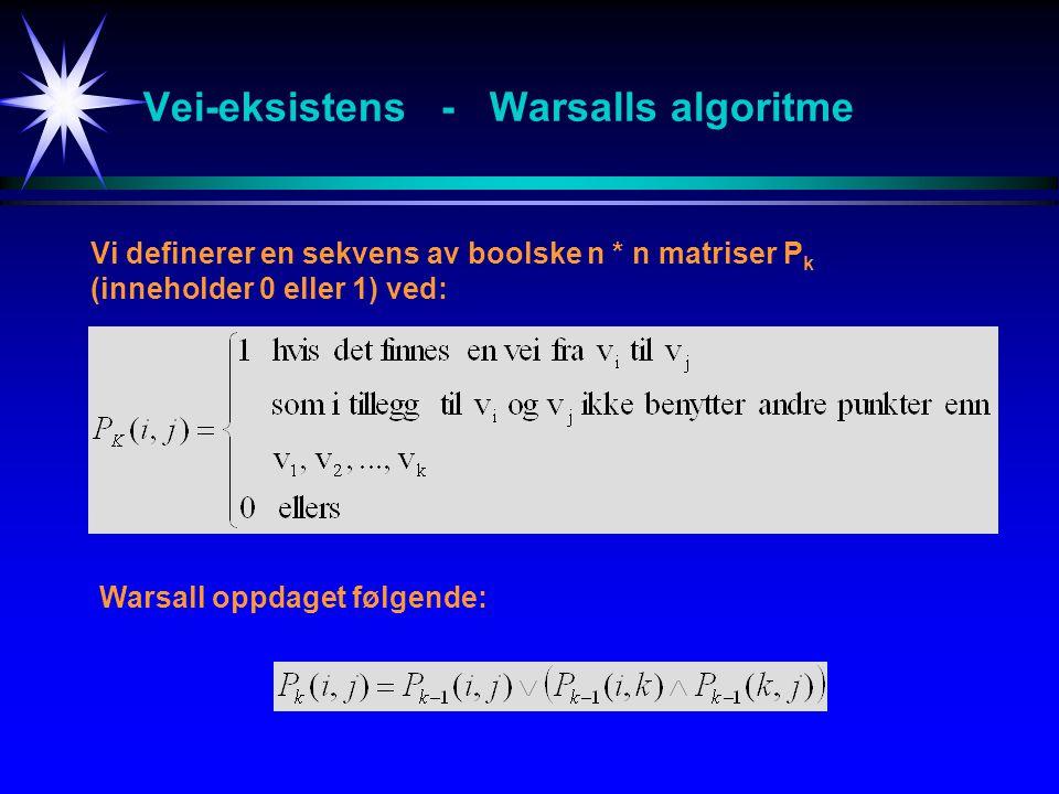 Vei-eksistens - Warsalls algoritme