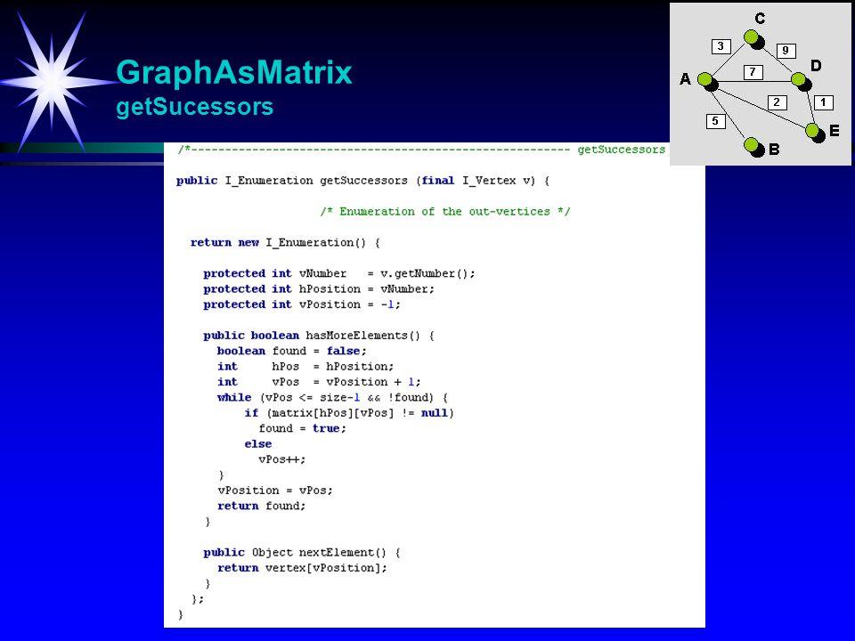 GraphAsMatrix getSucessors