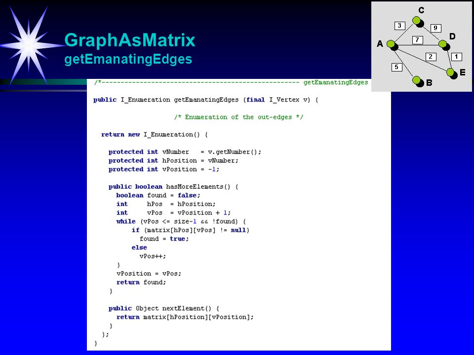 GraphAsMatrix getEmanatingEdges