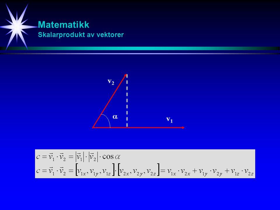 Matematikk Skalarprodukt av vektorer
