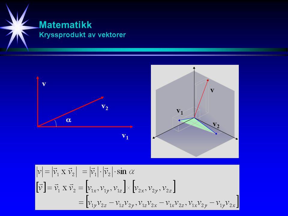 Matematikk Kryssprodukt av vektorer