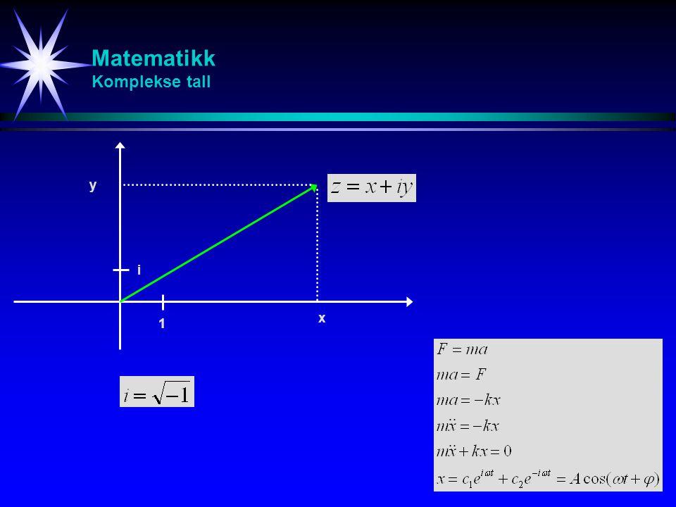 Matematikk Komplekse tall
