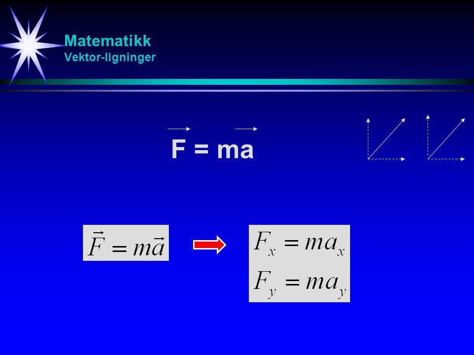 Matematikk Vektor-ligninger