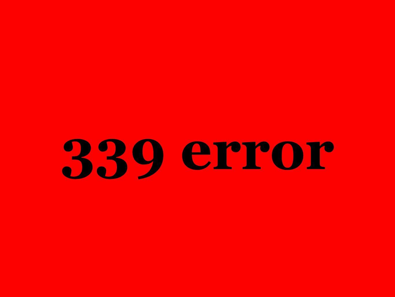 339 error Hvert 10-ende sekund