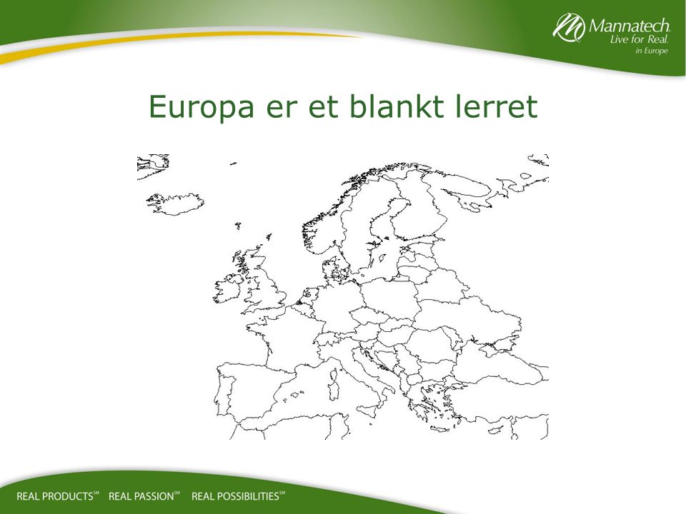 Europa er et blankt lerret