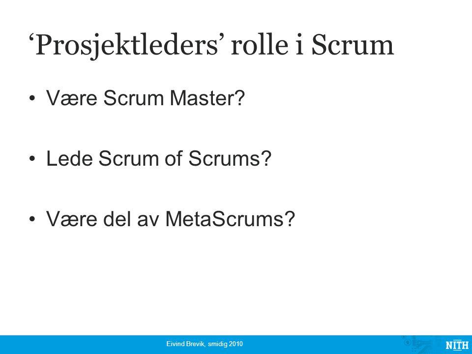 'Prosjektleders' rolle i Scrum