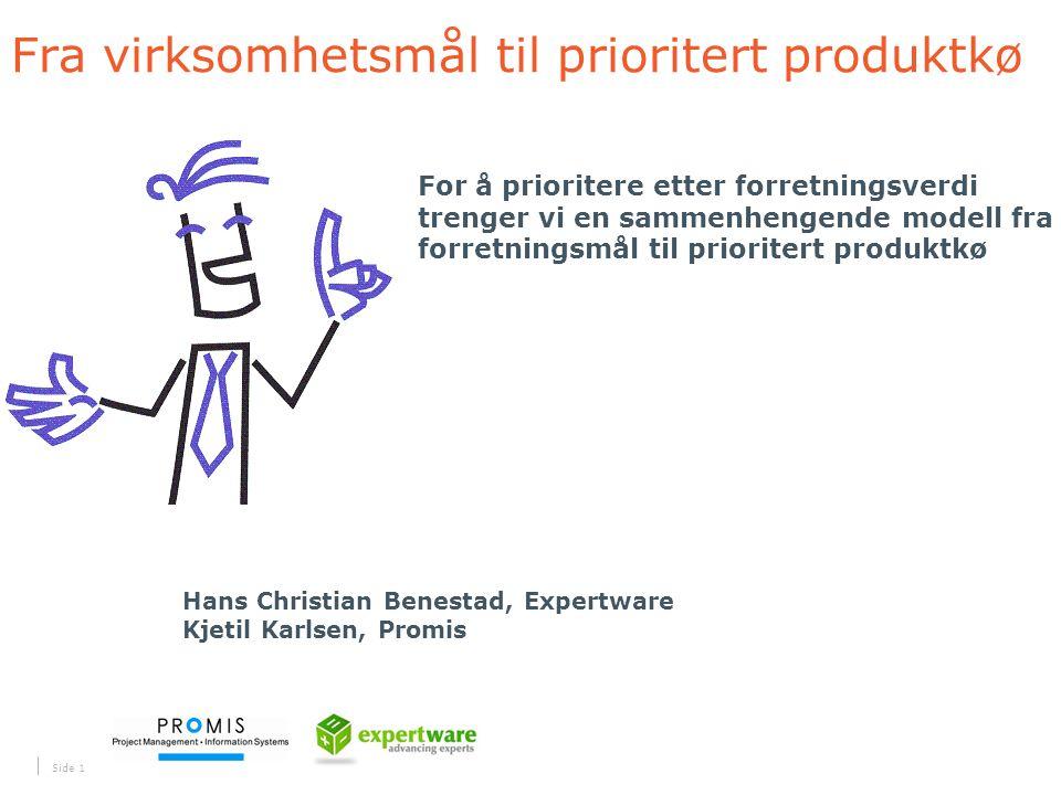 Fra virksomhetsmål til prioritert produktkø