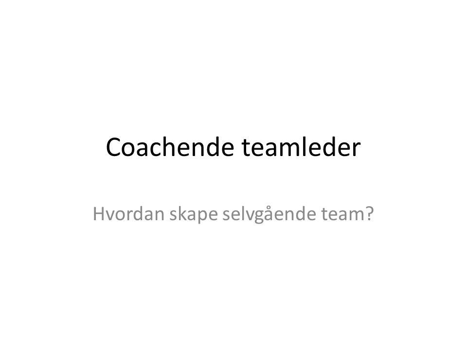 Hvordan skape selvgående team