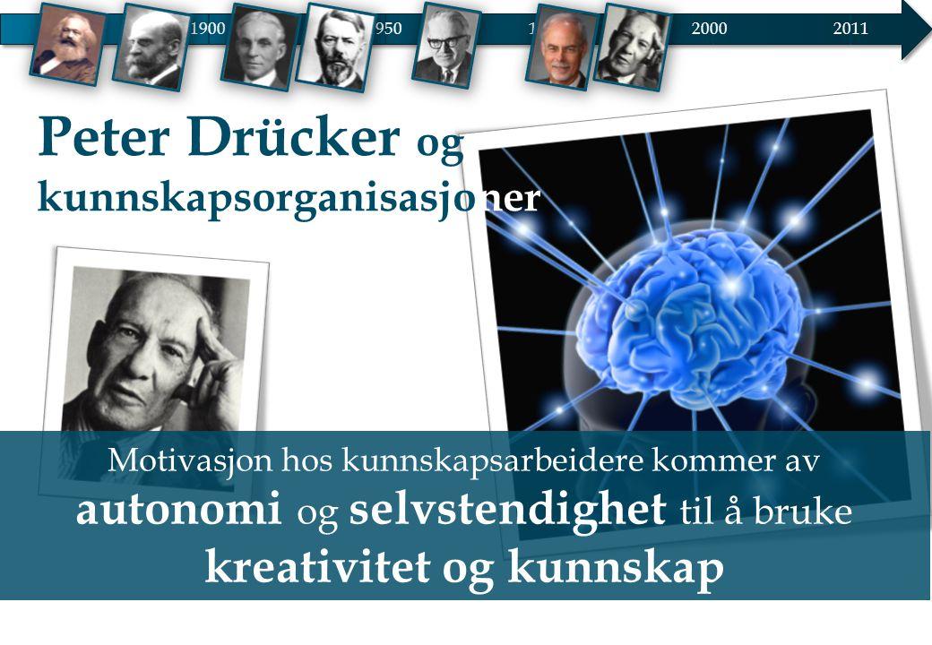 Peter Drücker og kunnskapsorganisasjoner