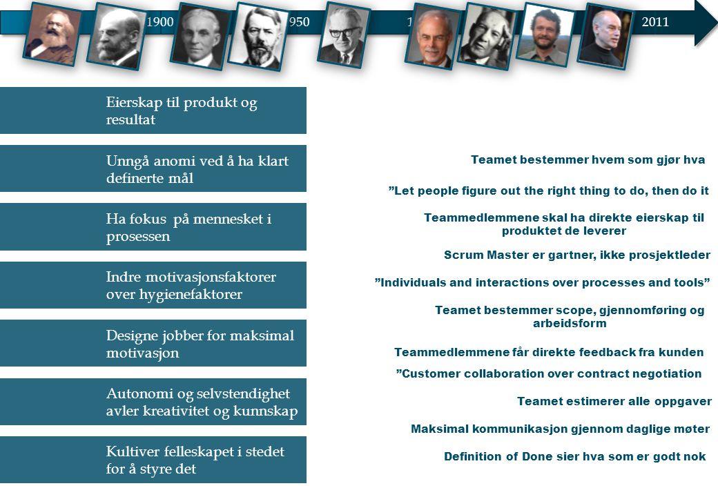 Eierskap til produkt og resultat