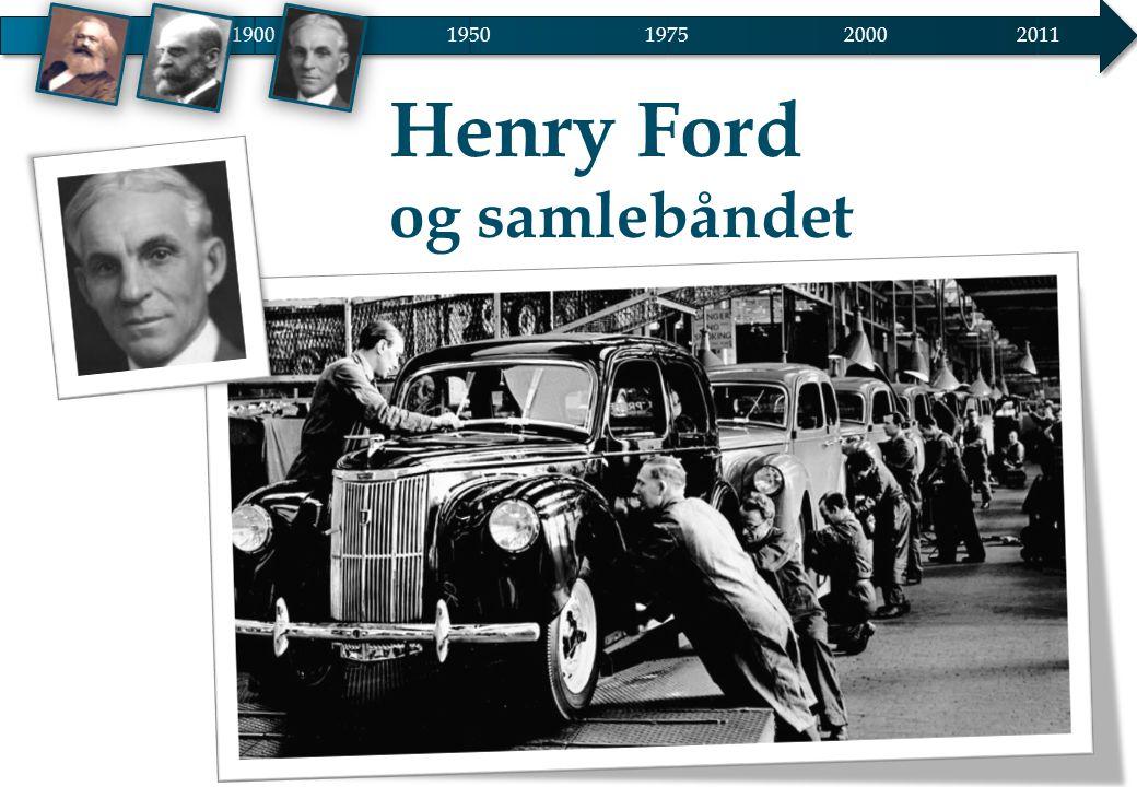 1900 1950 2000 2011 1975 Henry Ford og samlebåndet