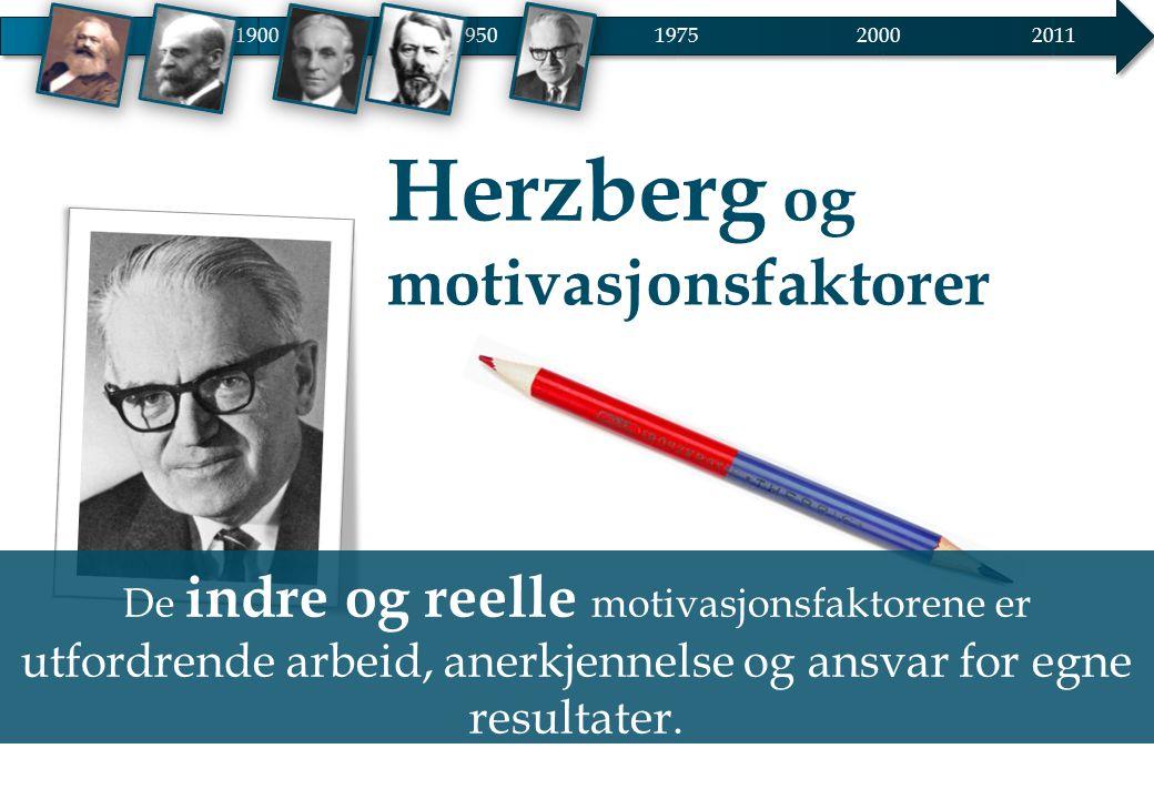 Herzberg og motivasjonsfaktorer