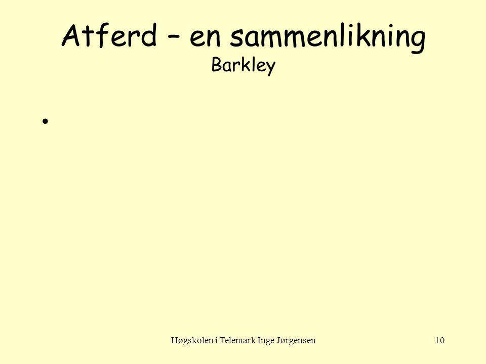 Atferd – en sammenlikning Barkley