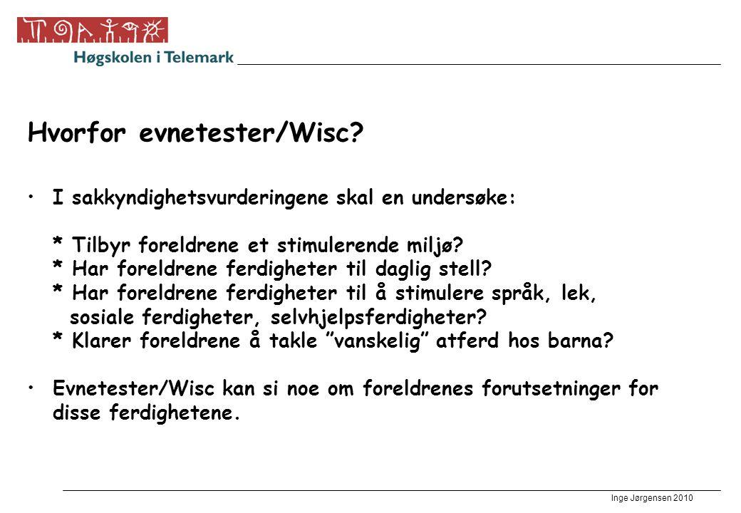Hvorfor evnetester/Wisc