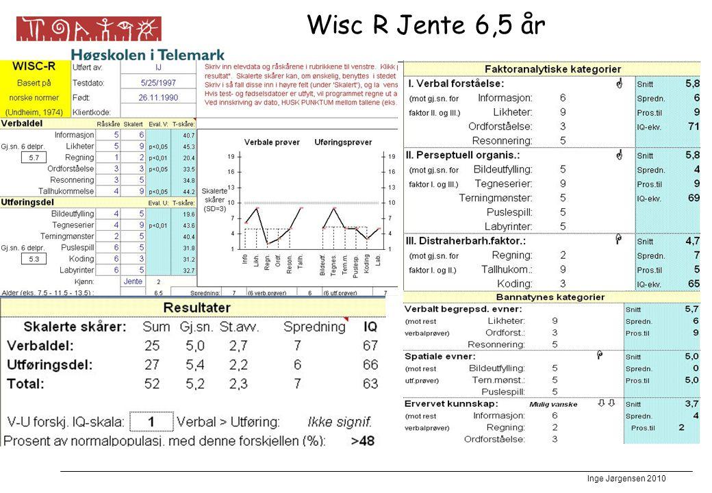 Wisc R Jente 6,5 år