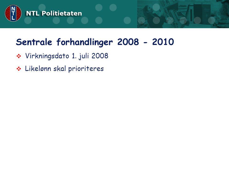 Sentrale forhandlinger 2008 - 2010
