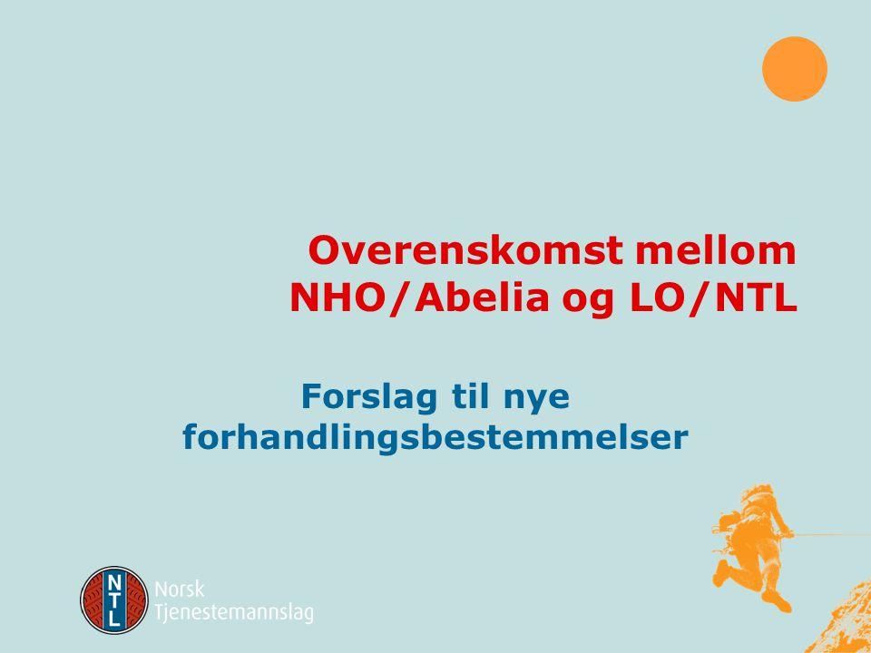 Overenskomst mellom NHO/Abelia og LO/NTL