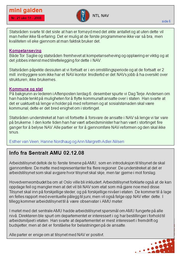 mini gaiden side 6 Info fra Sentralt AMU 02.12.08