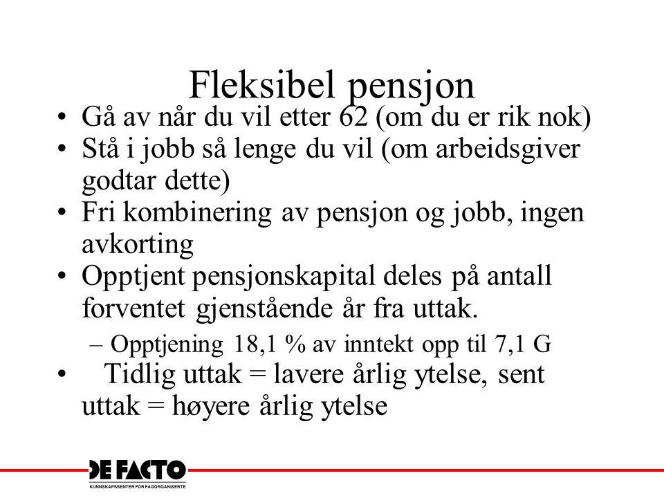 Fleksibel pensjon Gå av når du vil etter 62 (om du er rik nok)