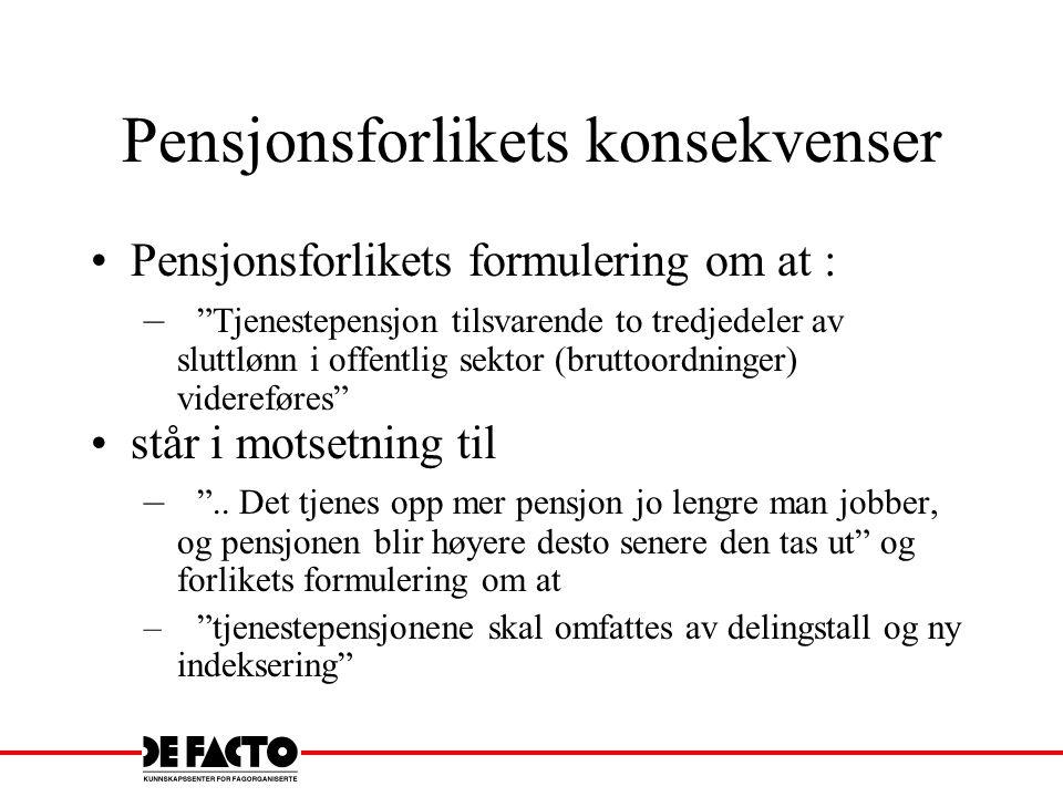 Pensjonsforlikets konsekvenser