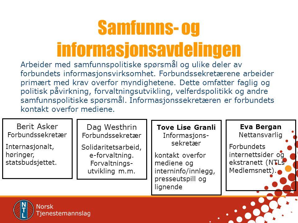 Samfunns- og informasjonsavdelingen
