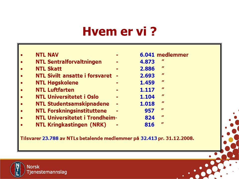 Hvem er vi NTL NAV - 6.041 medlemmer