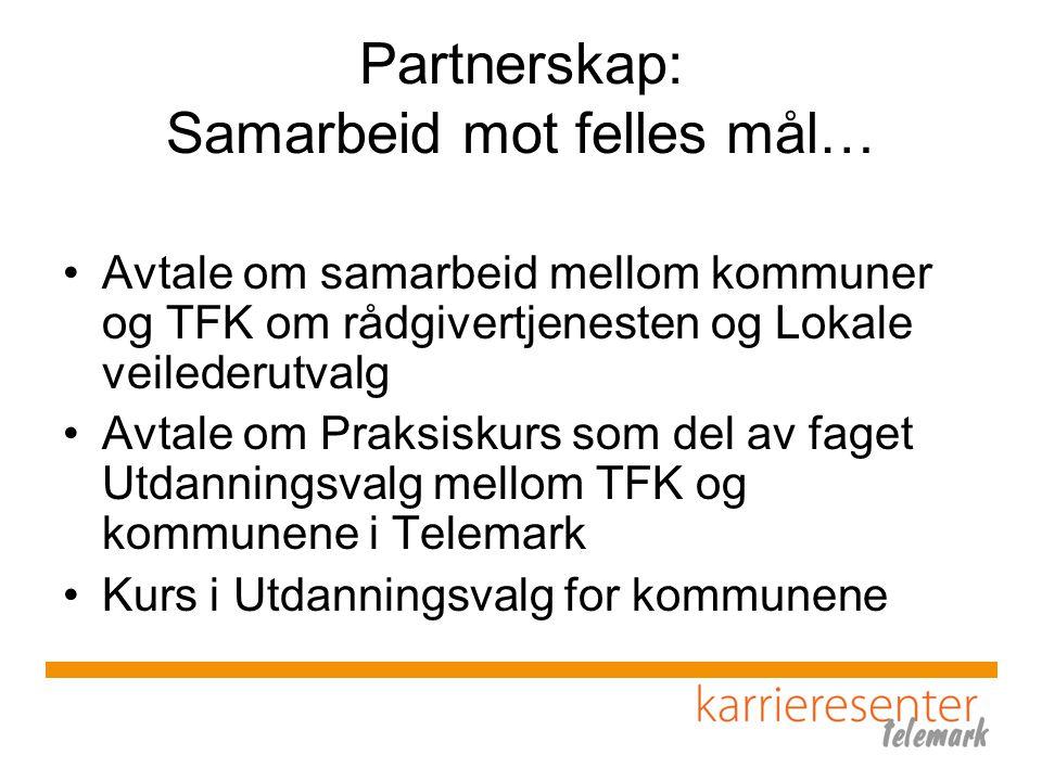 Partnerskap: Samarbeid mot felles mål…