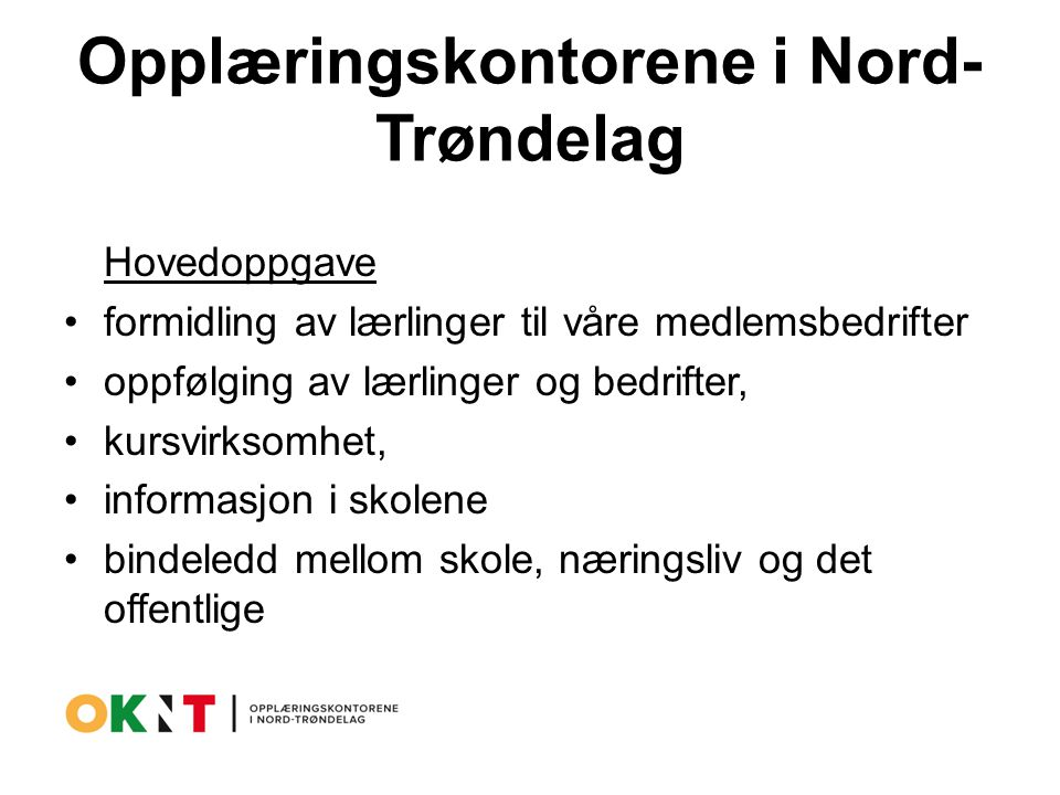 Opplæringskontorene i Nord-Trøndelag