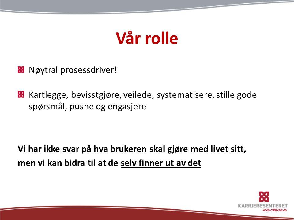Vår rolle Nøytral prosessdriver!