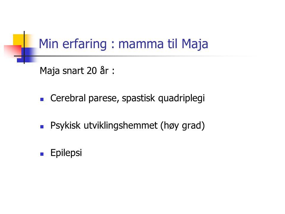 Min erfaring : mamma til Maja