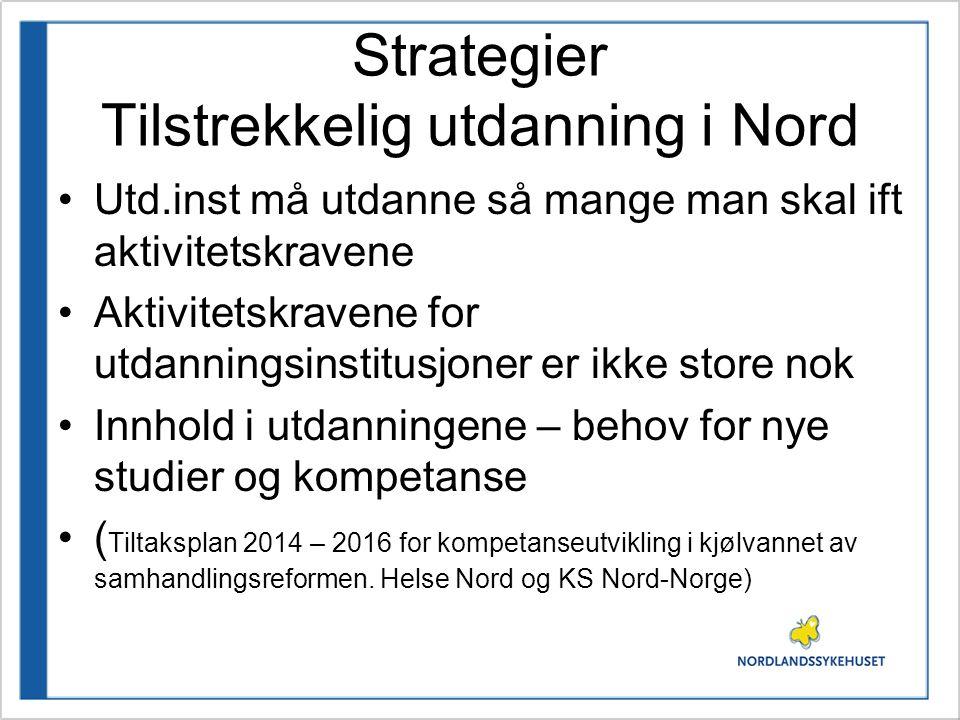 Strategier Tilstrekkelig utdanning i Nord