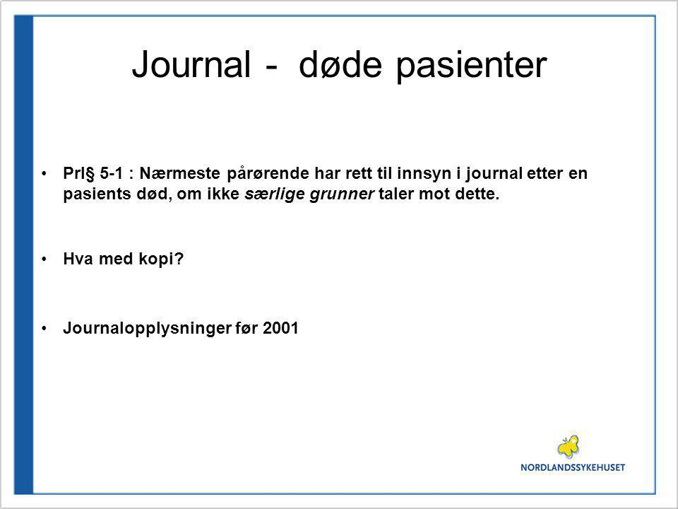 Journal - døde pasienter