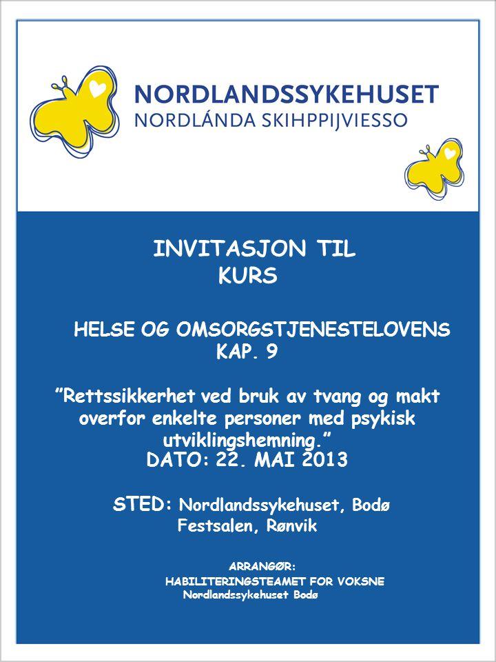 Invitasjon til kurs INVITASJON TIL KURS KAP. 9