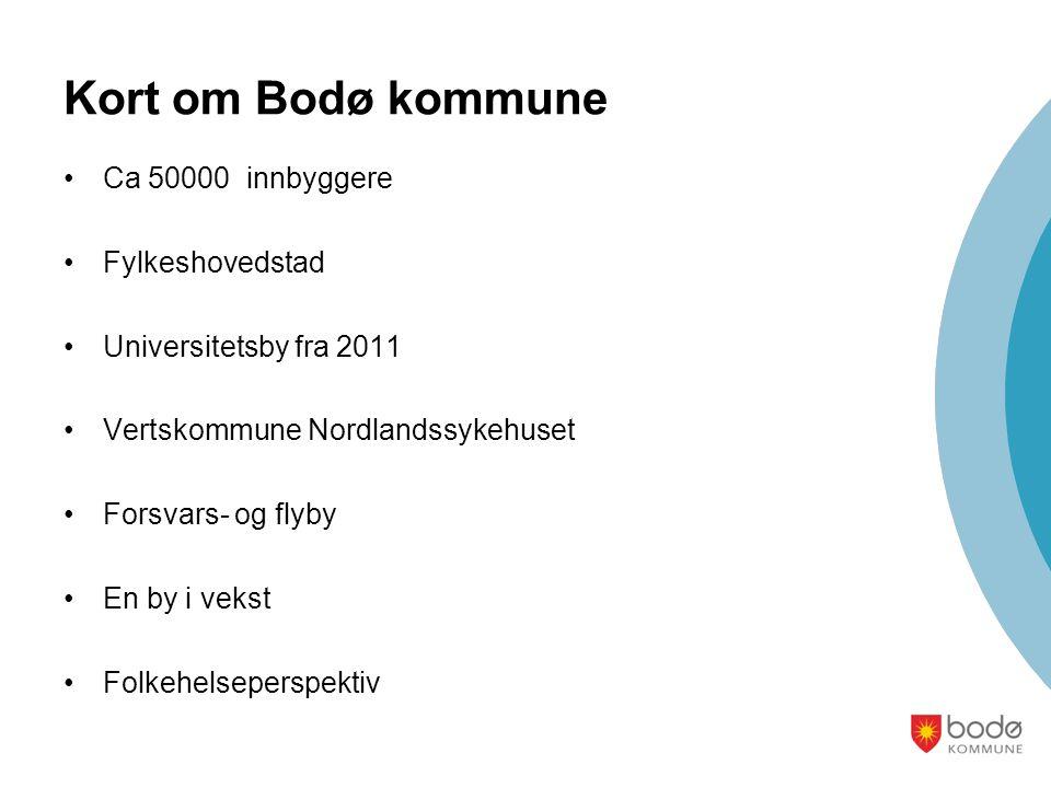 Kort om Bodø kommune Ca 50000 innbyggere Fylkeshovedstad