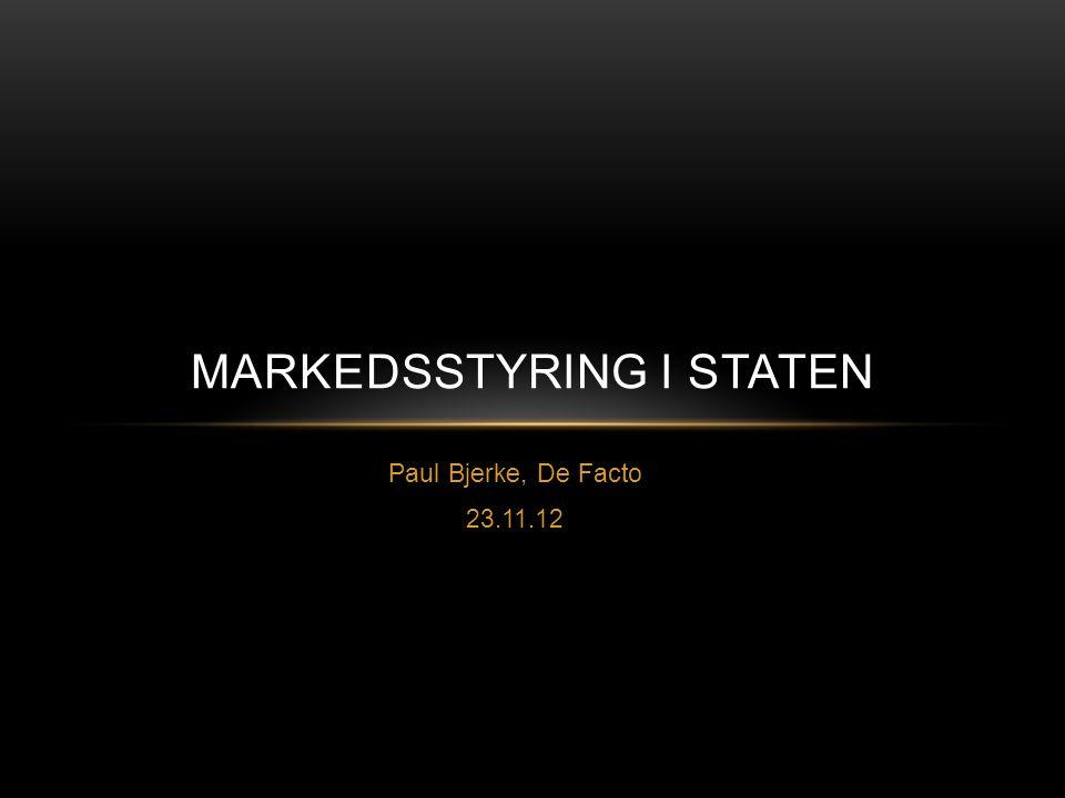 Markedsstyring i Staten