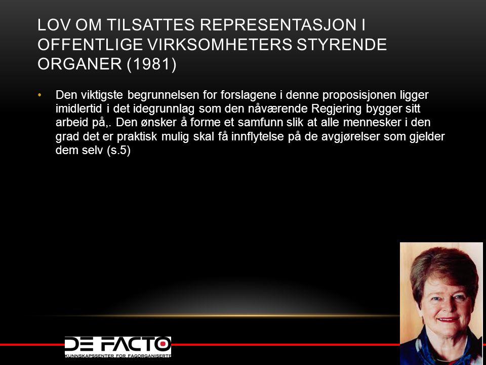 Lov om tilsattes representasjon i offentlige virksomheters styrende organer (1981)