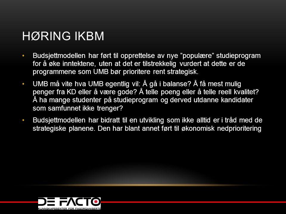 Høring IKBM