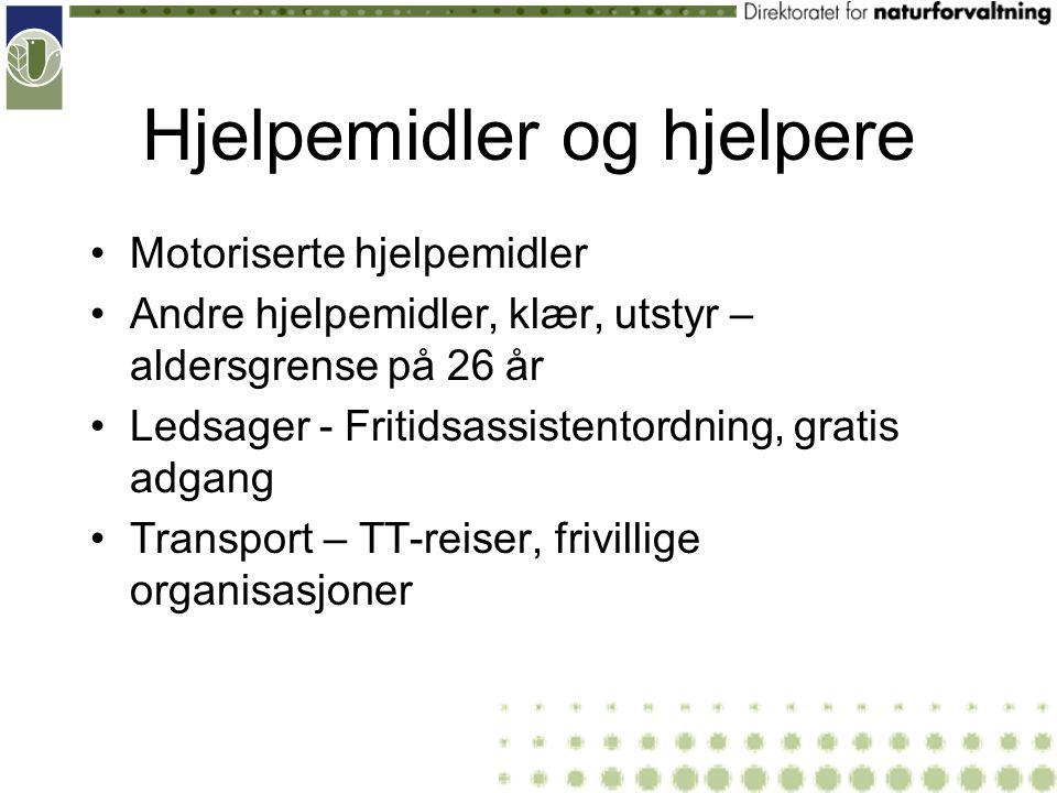 Hjelpemidler og hjelpere