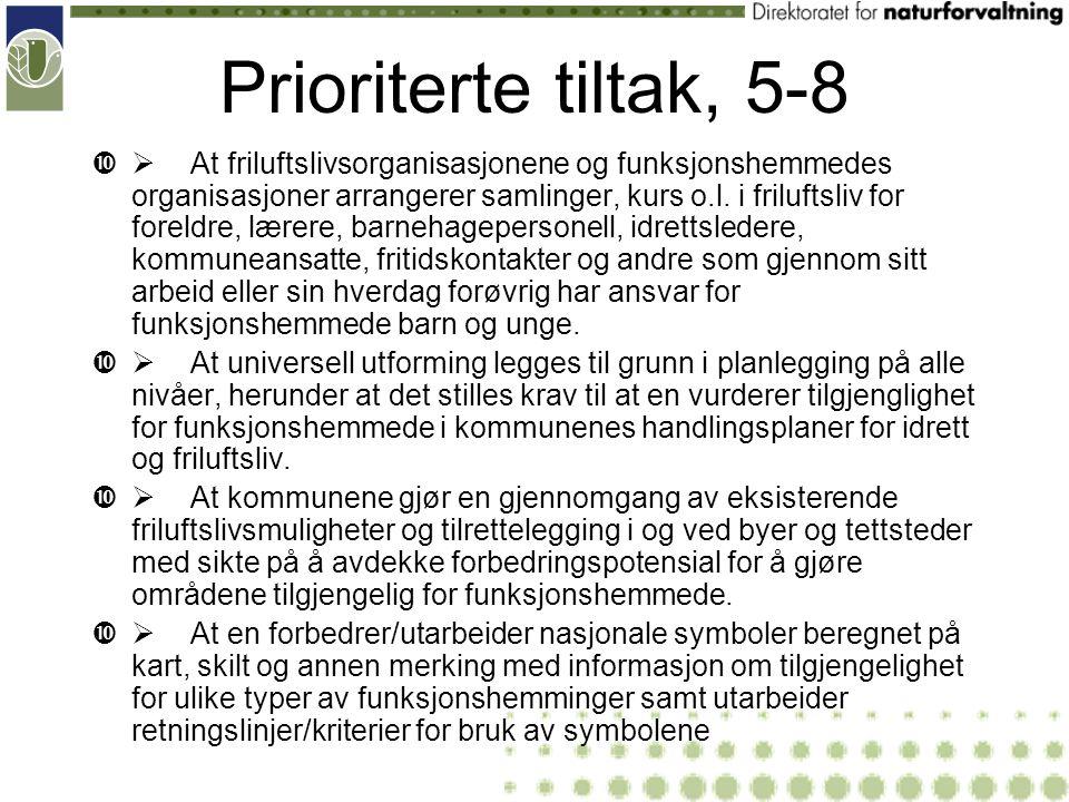 Prioriterte tiltak, 5-8