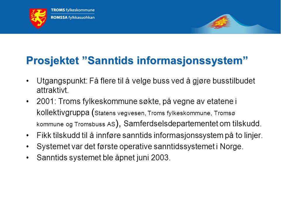 Prosjektet Sanntids informasjonssystem