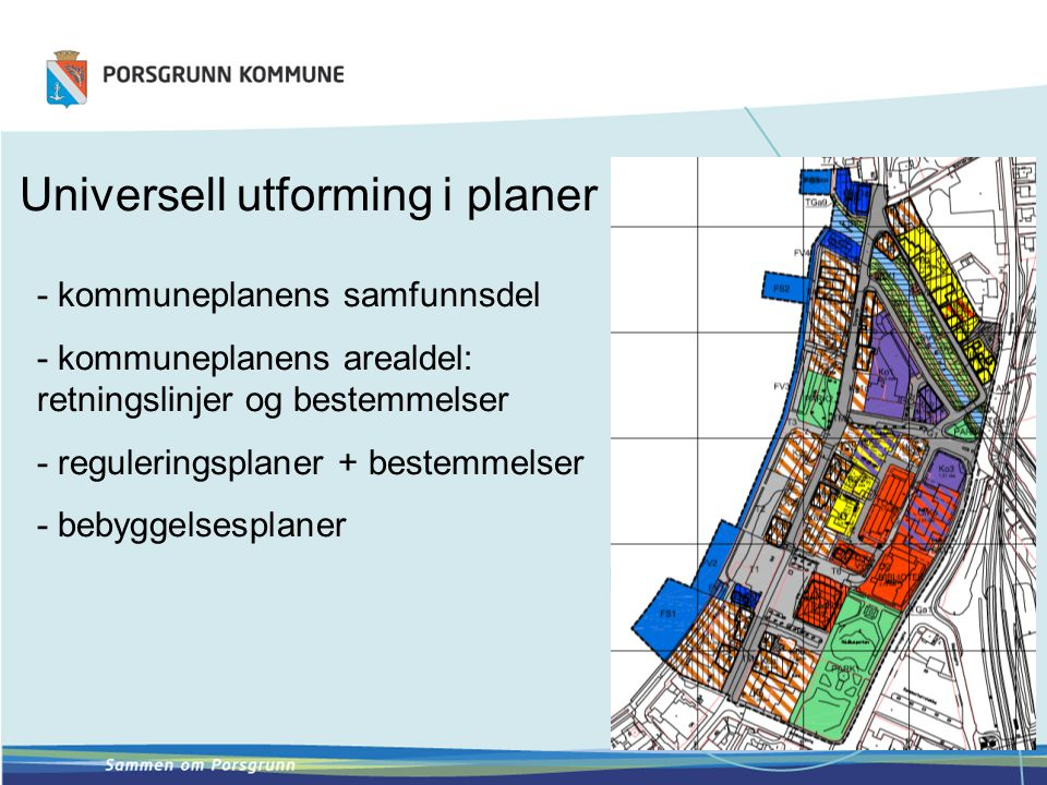 Universell utforming i planer