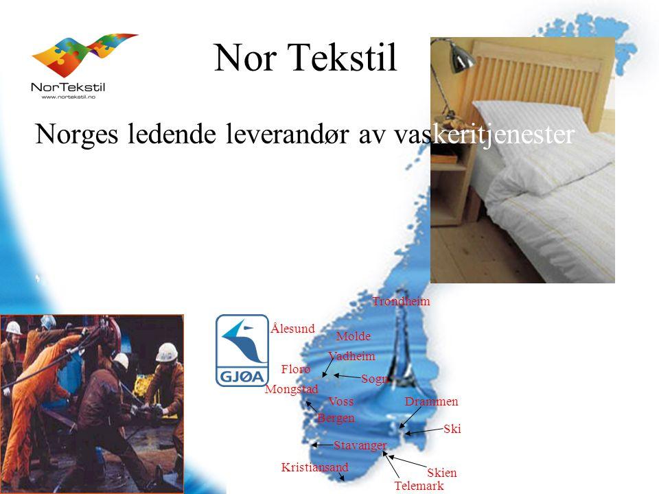 Nor Tekstil Norges ledende leverandør av vaskeritjenester